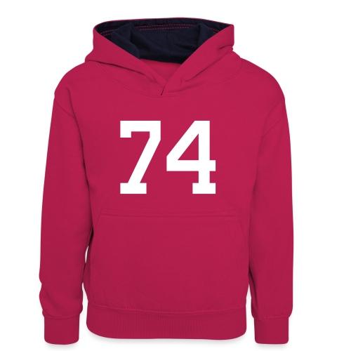 74 SPITZER Julian - Teenager Kontrast-Hoodie