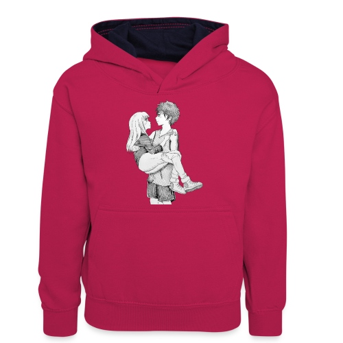 Cavaliere gentlemen - Felpa con cappuccio in contrasto cromatico per ragazzi