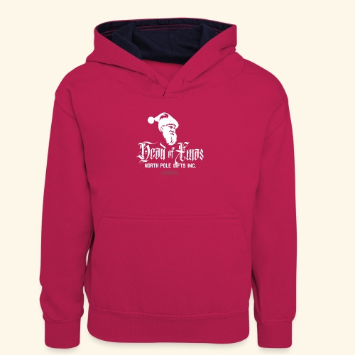 Weihnachten T-Shirt lustiger Spruch Head of Xmas - Teenager Kontrast-Hoodie