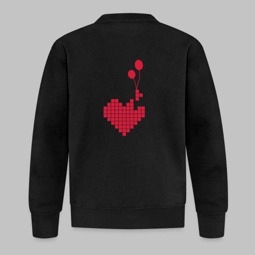 heart and balloons - Unisex Baseball Jacket