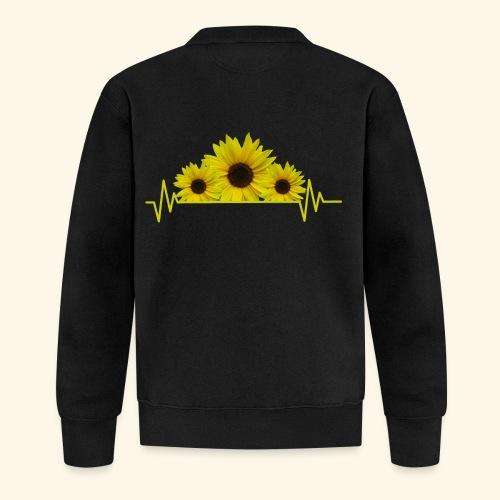 Sonnenblumen Herzschlag Sonnenblume Blumen Blüten - Baseball Jacke