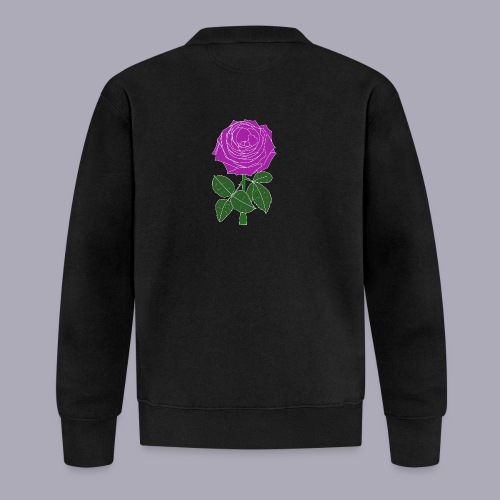 Landryn Design - Pink rose - Baseball Jacket