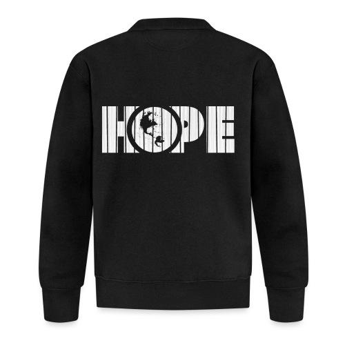 Hope logo white - Veste zippée Unisexe