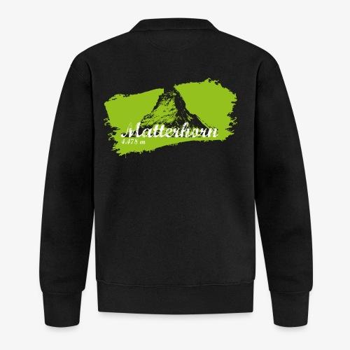Matterhorn - Cervino en verde - Unisex Baseball Jacket