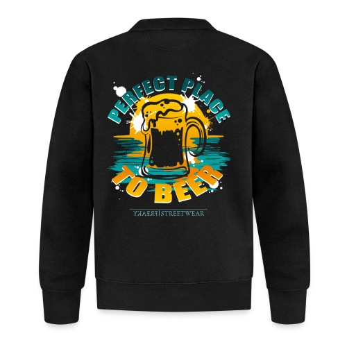 a perfect place to beer - Unisex Baseball Jacke