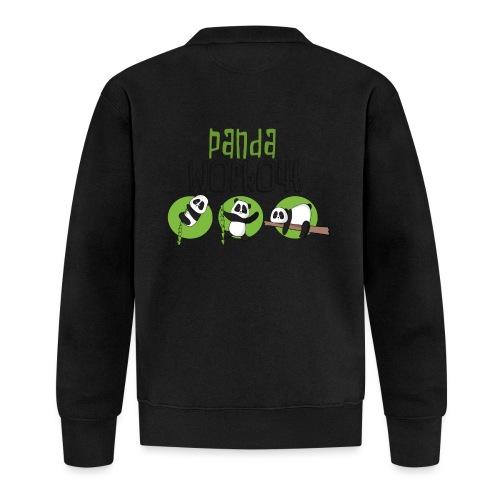 Panda Workout Fitness für Genießer und Faulenzer - Unisex Baseball Jacke