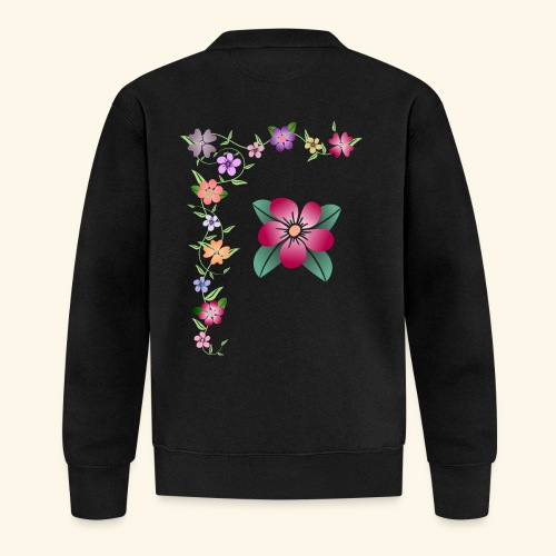 Blumenranke, Blumen, Blüten, floral, blumig, bunt - Baseball Jacke