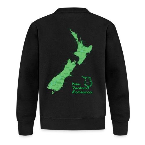 New Zealand's Map - Baseball Jacket