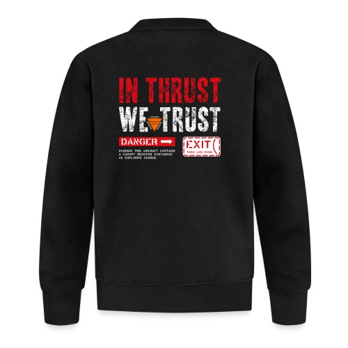 IN THRUST WE TRUST - Baseball Jacke