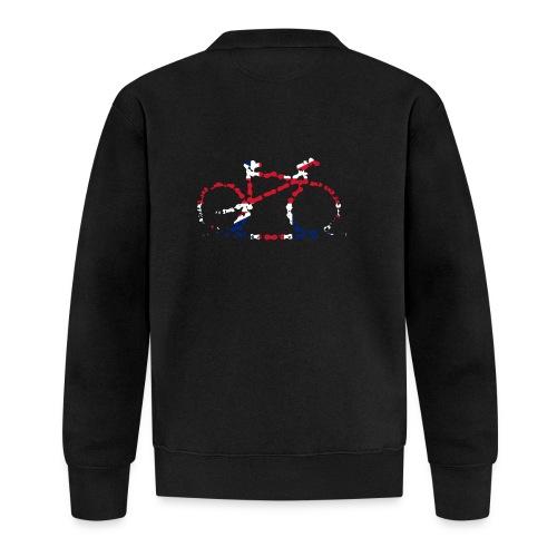 GB Cycling Chain Print - Baseball Jacket