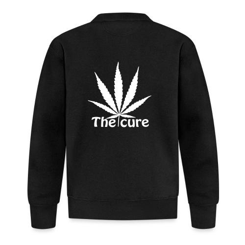 The cure of cannabis leaf. - Unisex Baseball Jacket