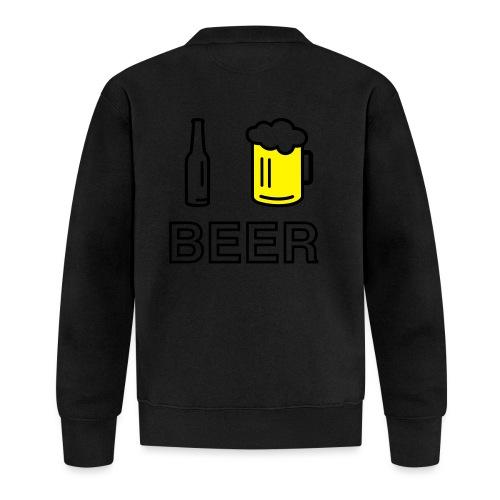 I Love Beer (2-farbig) - Baseball Jacke