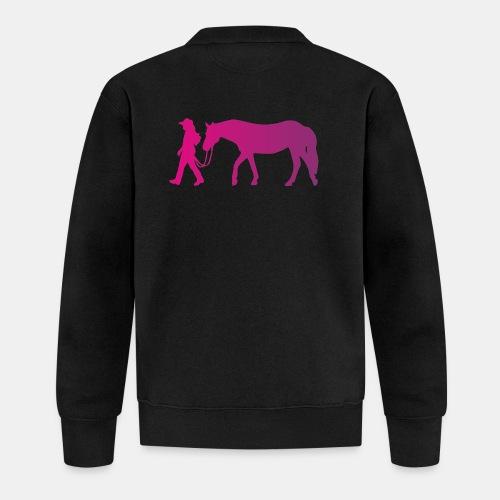 Mädchen führt Pferd, Horsemanship - Baseball Jacke