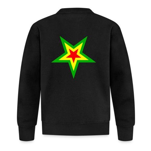 Stern rot, gelb, grün - Baseball Jacke
