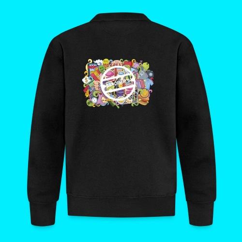maglia logo doodle - Felpa da baseball unisex