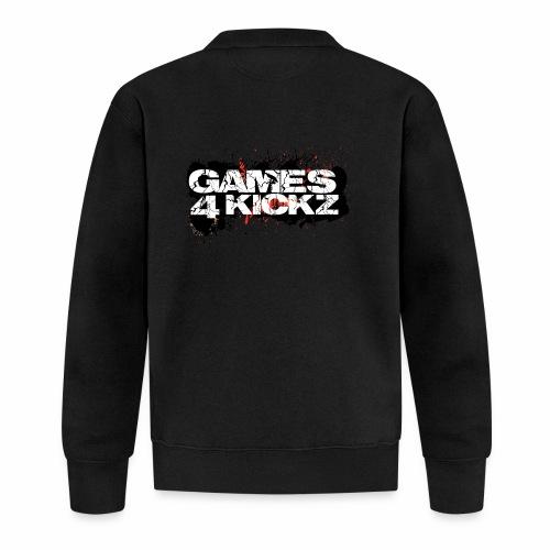 Games4Kickz Logo Splattered Background - Unisex Baseball Jacket