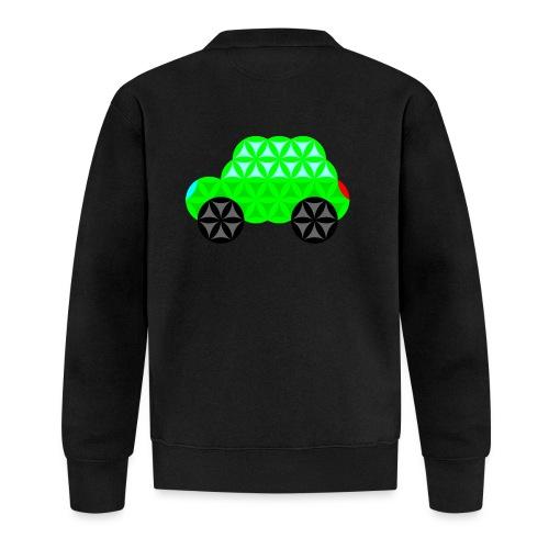 The Car Of Life - M01, Sacred Shapes, Green/R01. - Unisex Baseball Jacket