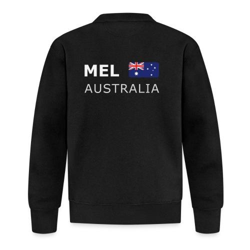 MEL AUSTRALIA white-lettered 400 dpi - Unisex Baseball Jacket