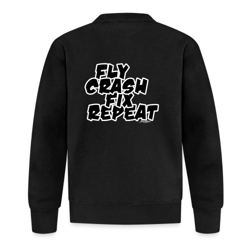 FlyCrashFixRepeat signed - Baseball Jacket