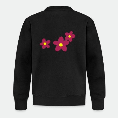 Three Flowers - Baseball Jacket