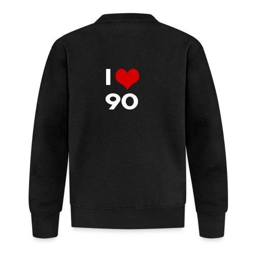 I love 90 - Felpa da baseball unisex