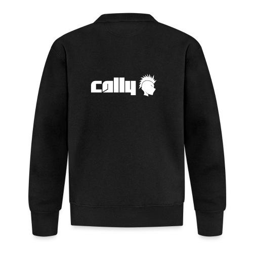 Cally White Logo - Unisex Baseball Jacket