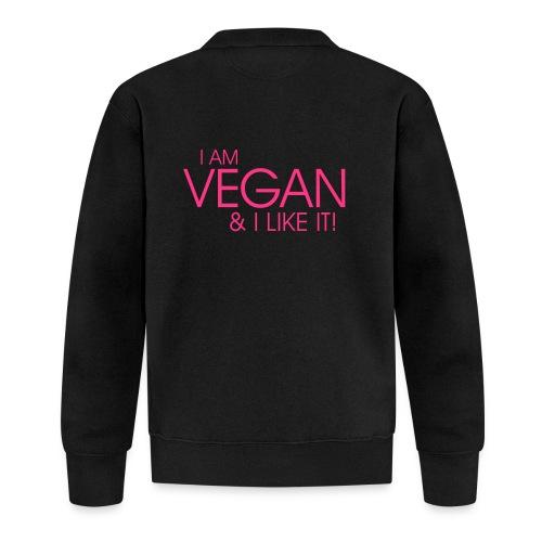 I am vegan and I like it - Unisex Baseball Jacke