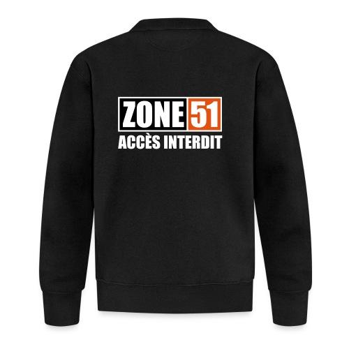 ZONE 51 - ACCES INTERDIT - Veste zippée