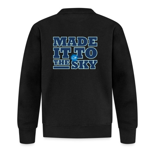 Made it to the sky (Dark blue) - Baseball Jacket