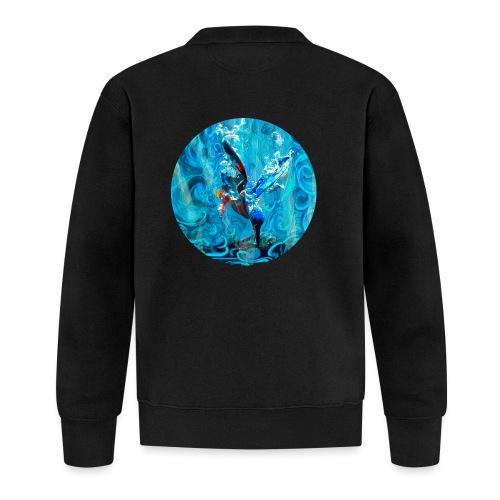 kingfisher dive - fishing - Unisex Baseball Jacket