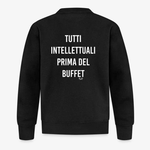 tutti intellettuali prima del buffet - Felpa da baseball unisex