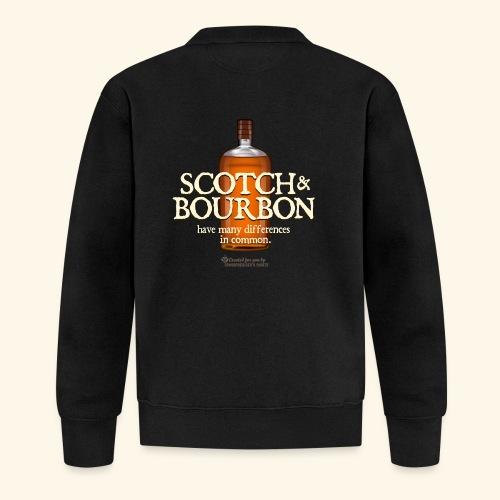 Whisky Spruch Scotch & Bourbon - Baseball Jacke