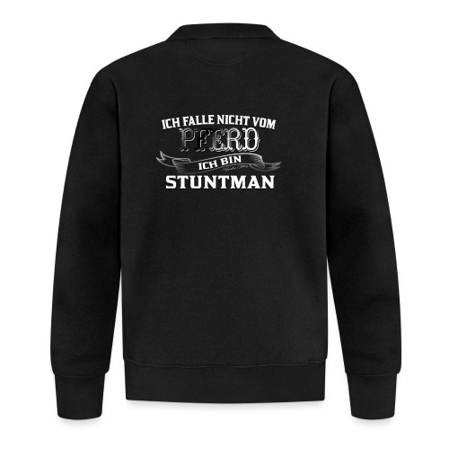 Ich falle nicht vom Pferd ich bin Stuntman Reiten - Baseball Jacke