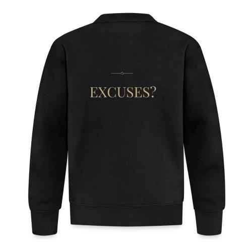 EXCUSES? Motivational T Shirt - Baseball Jacket