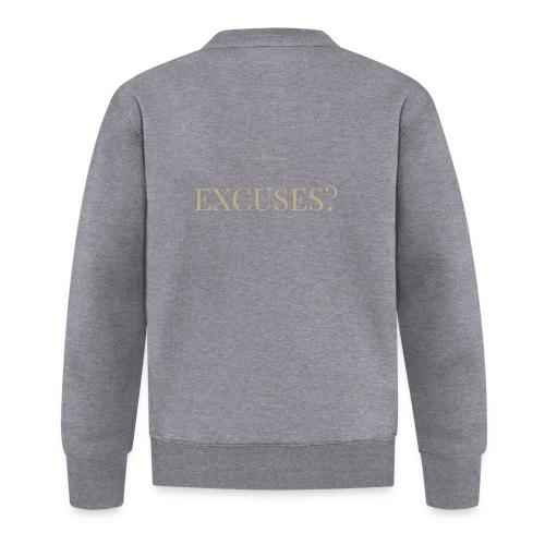 EXCUSES? Motivational T Shirt - Unisex Baseball Jacket