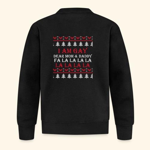Gay Christmas sweater - Kurtka bejsbolowa unisex