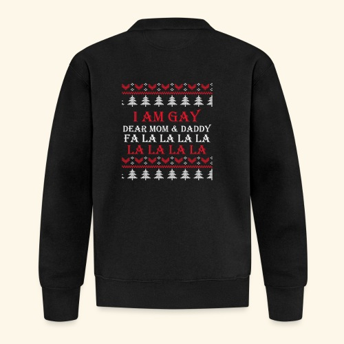 Gay Christmas sweater - Kurtka bejsbolowa
