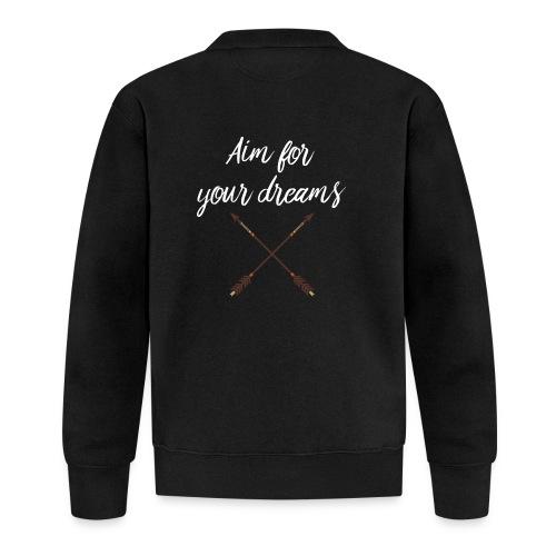 Aim for your Dreams white - Unisex baseball-takki