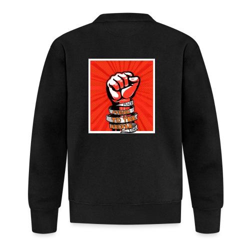 Peace, Power to the people, love, fist pump - Unisex Baseball Jacket