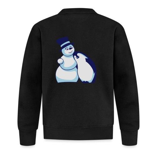 Schneemann und Pinguin - Baseball Jacke