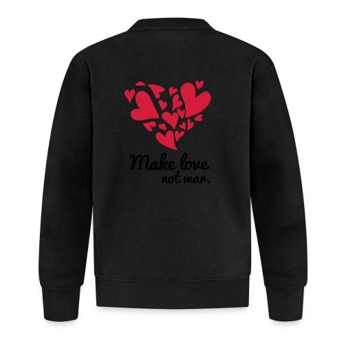 Make Love Not War T-Shirt - Baseball Jacket