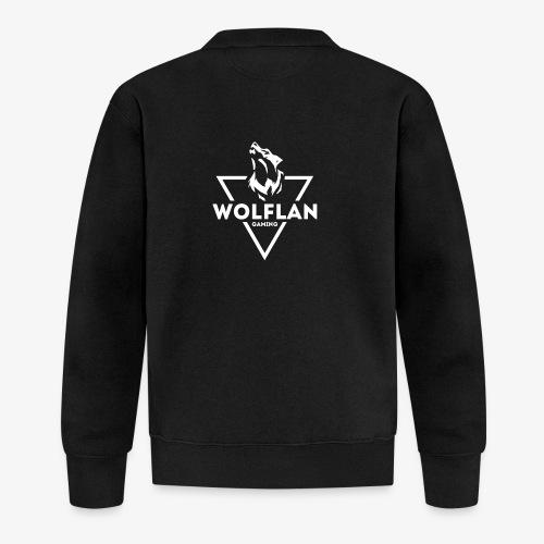 WolfLAN Logo White - Unisex Baseball Jacket