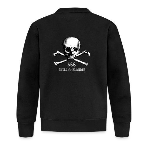 skull & blondes (white) - Unisex Baseball Jacke