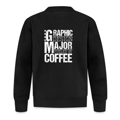 Graphic Design Major Fueled By Coffee - Baseball Jacke