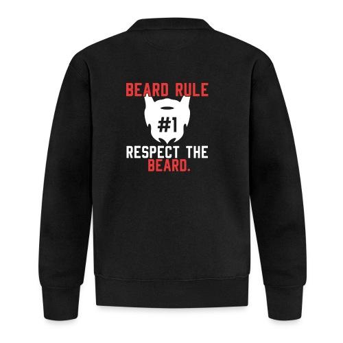 BEARD RULE 1 RESPECT THE RULE - Bart-Regel #1 - Baseball Jacke