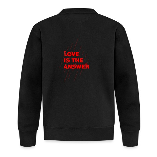 Love is the answer - Felpa da baseball