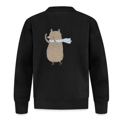 Fluffy Cuddle Bear by #OneCreativeArts - Baseball Jacke