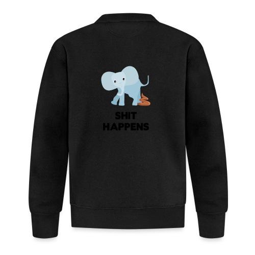 olifant met drol shit happens poep schaamte - Baseballjack