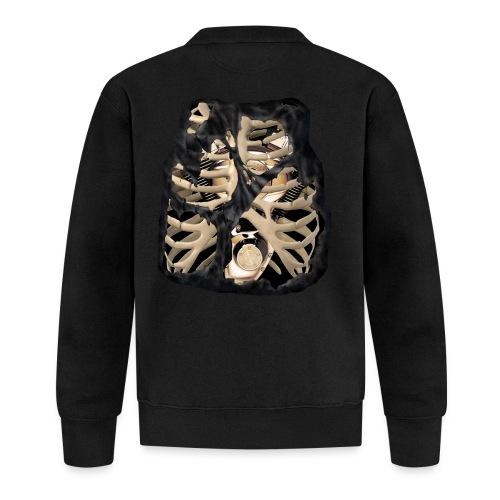 V-Twin skeleton negro - Chaqueta de béisbol unisex