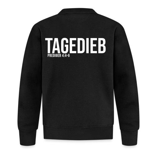 TAGEDIEB - Print in weiß - Baseball Jacke